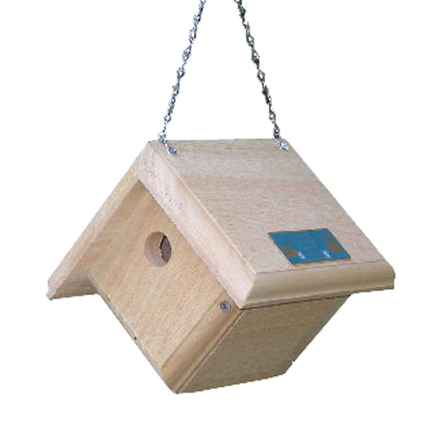 Coveside Conservation 7.5-in W x 7.5-in H x 7.5-in D Unfinished Pine Bird House