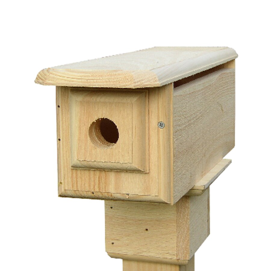 Coveside Conservation 6-in W x 6.75-in H x 19.75-in D Unfinished Pine Bird House
