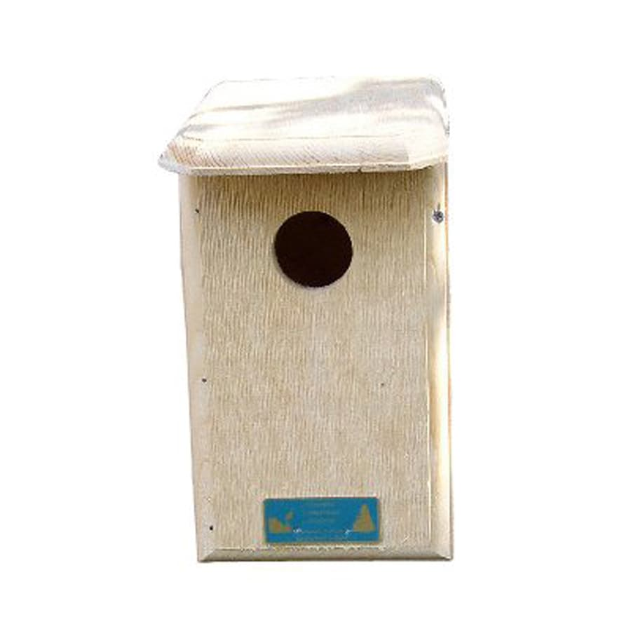 Coveside Conservation 7-in W x 12.5-in H x 9-in D Unfinished Pine Bird House