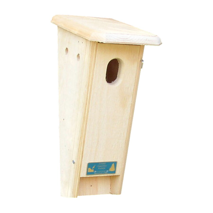 Coveside Conservation 7-in W x 16.75-in H x 9.25-in D Unfinished Pine Bird House