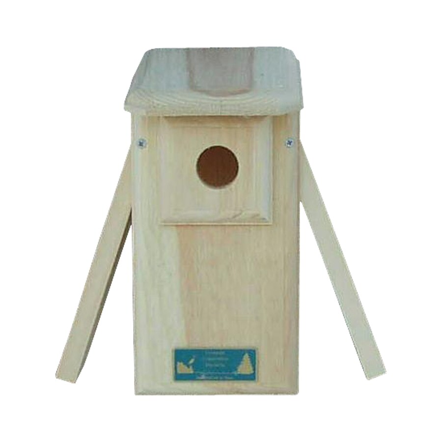 Coveside Conservation 6.25-in W x 12.5-in H x 8.5-in D Unfinished Pine Bird House