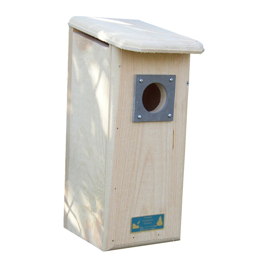 Coveside Conservation 7.5-in W x 17.5-in H x 9.75-in D Unfinished Pine Bird House