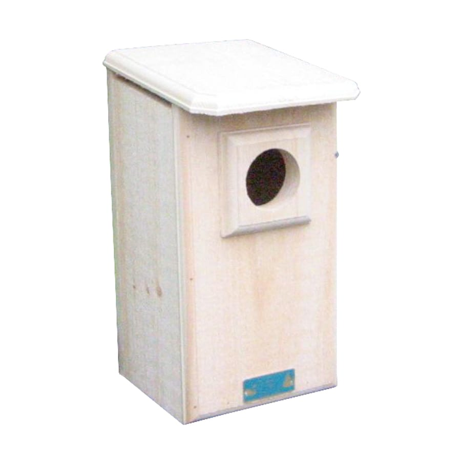 Coveside Conservation 9.25-in W x 17.75-in H x 11-in D Unfinished Pine Bird House
