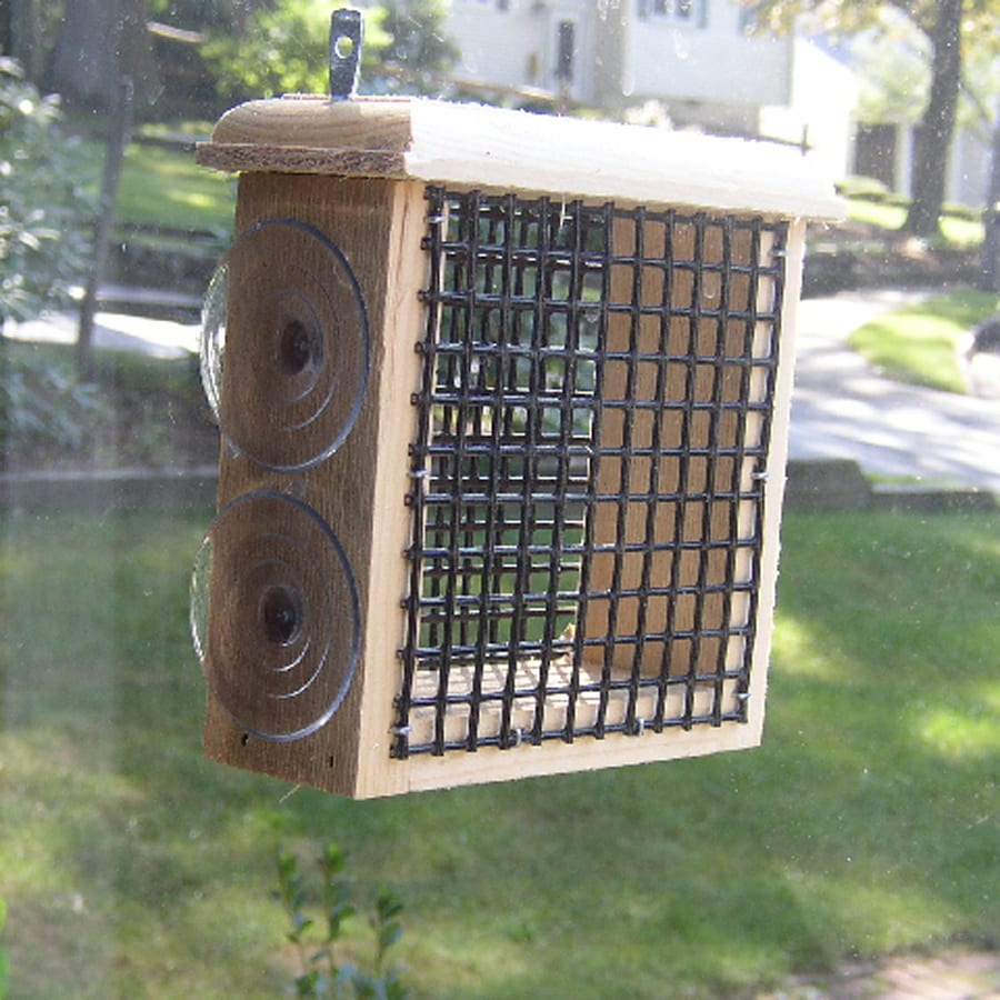 Coveside Conservation Natural Pine One-Cake Wood Suet Feeder