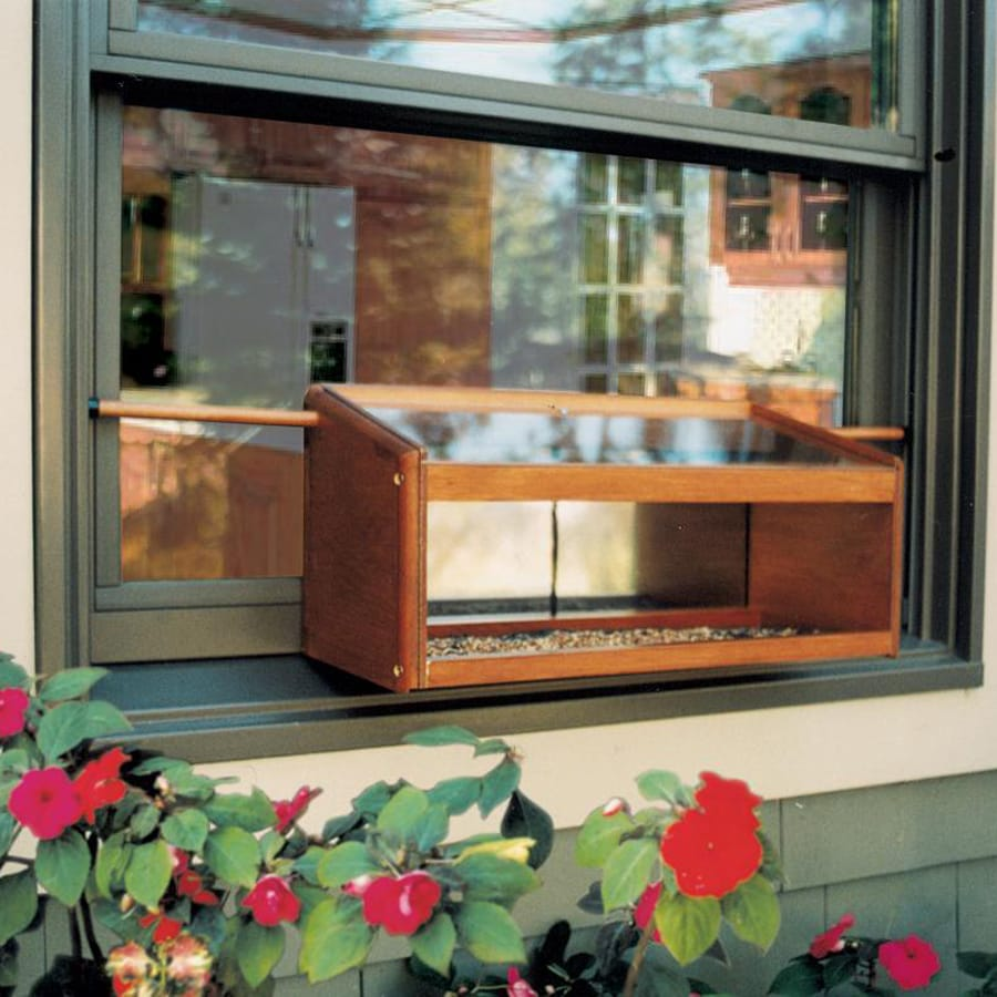 Coveside Conservation Wood Window Platform Bird Feeder