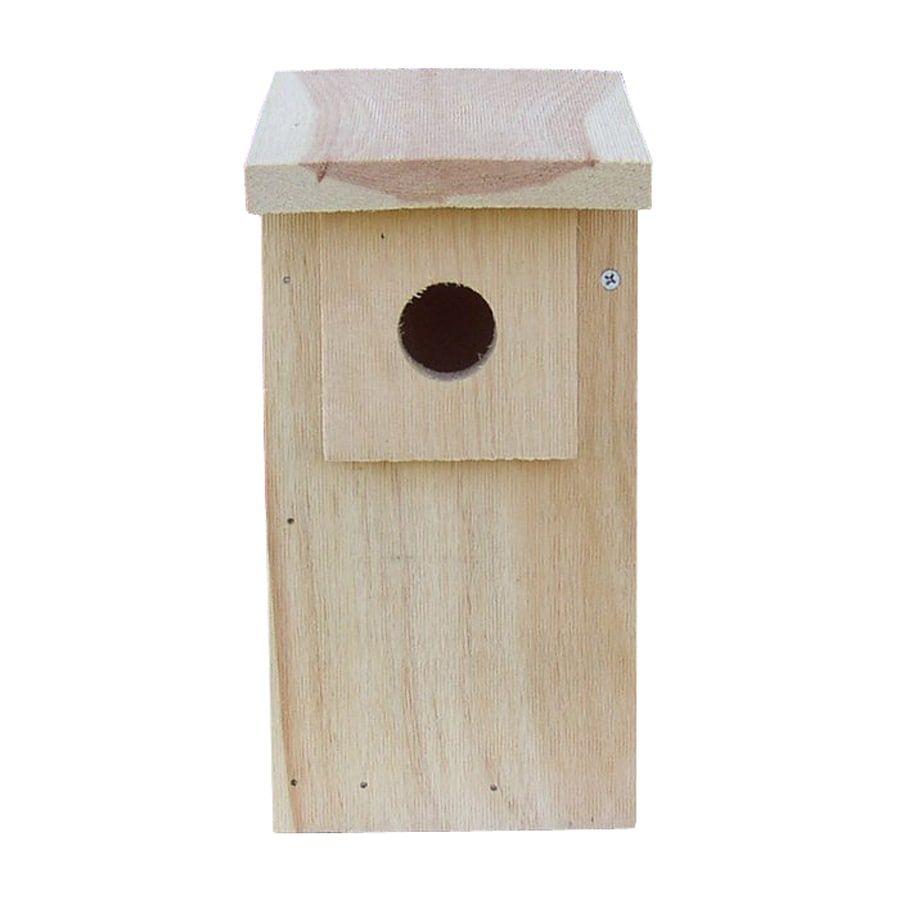 Coveside Conservation 6-in W x 12.5-in H x 8-in D Unfinished Pine Bird House