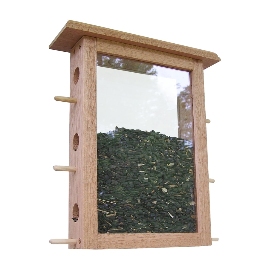 Coveside Conservation See-Through Wood Window Bird Feeder