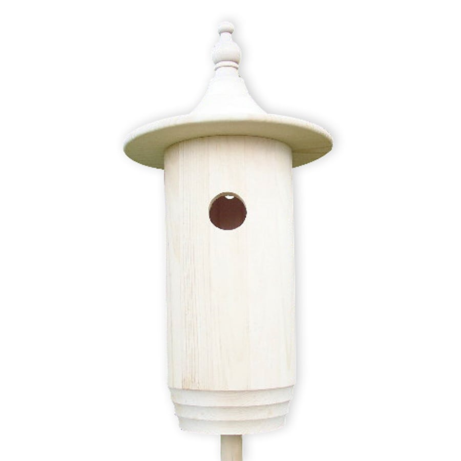 Coveside Conservation 10-in W x 19-in H x 10-in D Unfinished Pine Bird House
