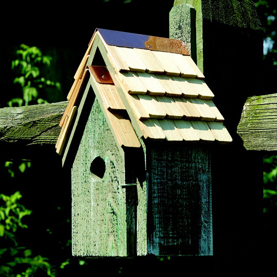 Heartwood 8-in W x 16-in H x 8-in D Grey Bird House