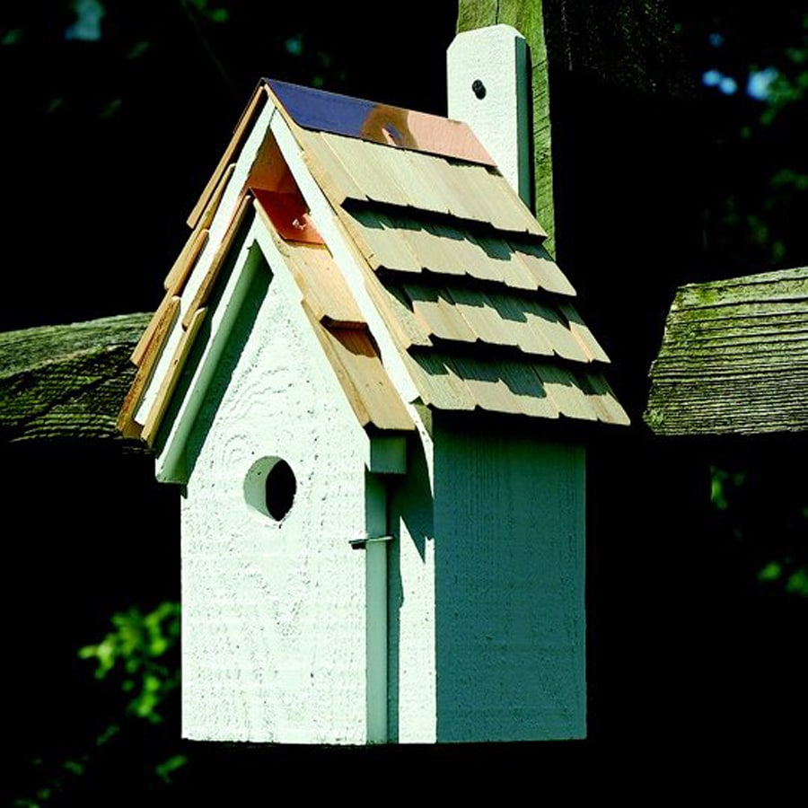 Heartwood 8-in W x 16-in H x 8-in D White Bird House