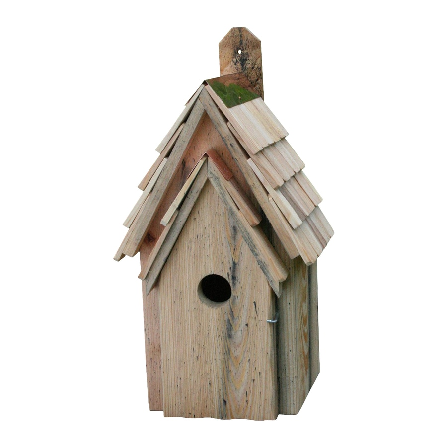 Heartwood 8-in W x 16-in H x 8-in D Natural Bird House