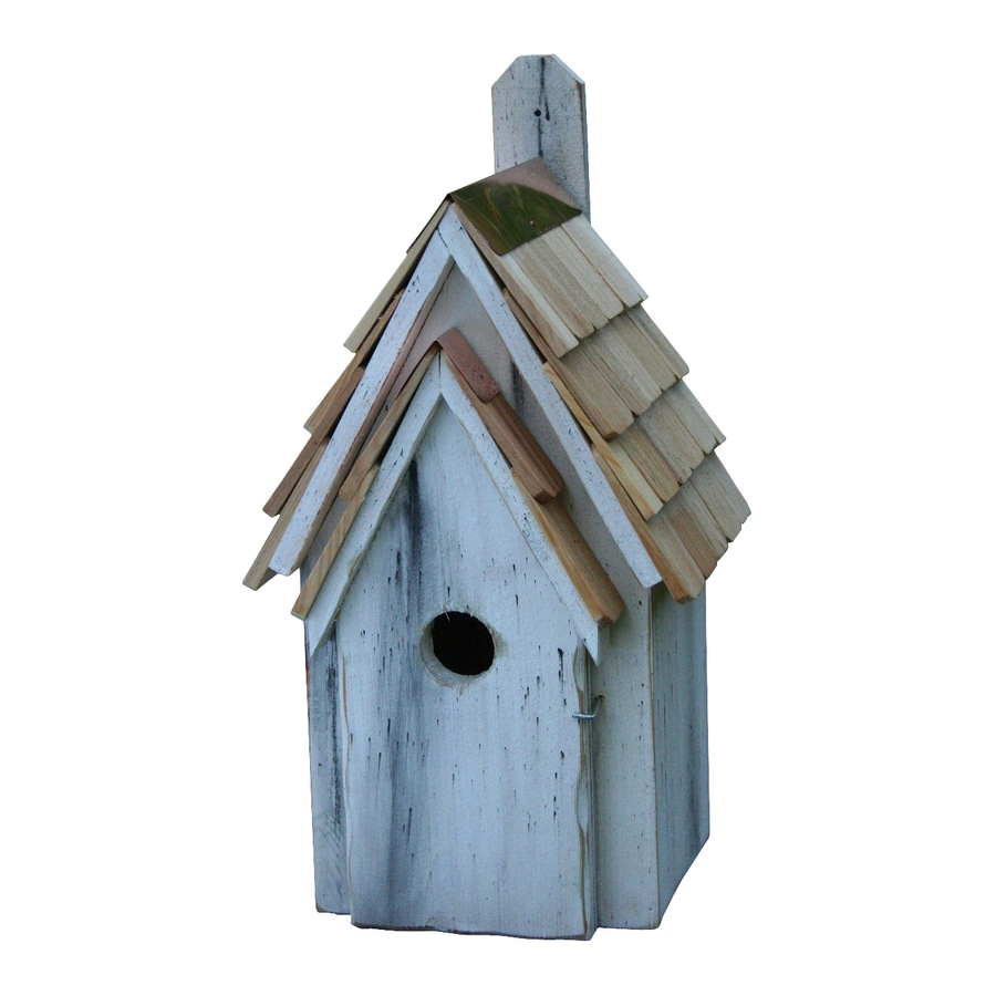 Heartwood 8-in W x 16-in H x 8-in D Antique White Bird House