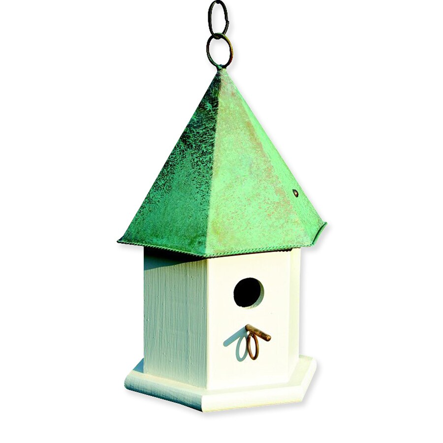 Heartwood 7-in W x 15-in H x 7-in D Verdi Copper Bird House