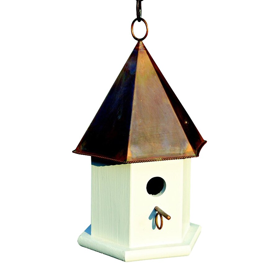 Heartwood 7-in W x 15-in H x 7-in D Brown Copper Bird House