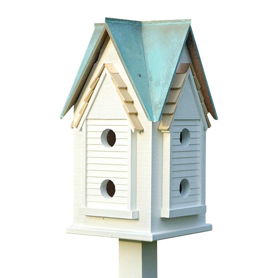 Heartwood 15-in W x 27-in H x 15-in D Verdi Copper Bird House