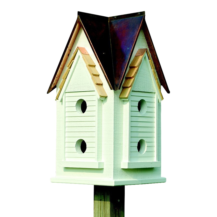 Heartwood 15-in W x 27-in H x 15-in D Brown Copper Bird House