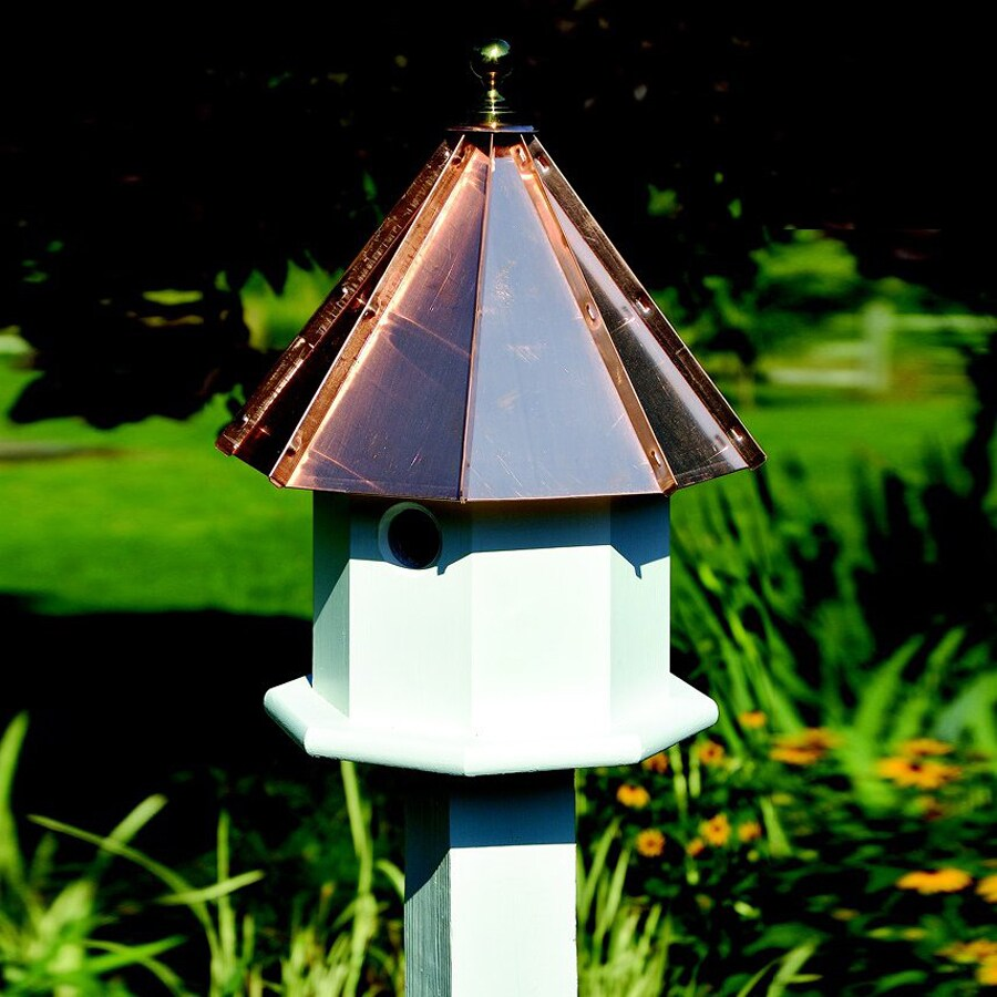 Heartwood 14-in W x 19-in H x 14-in D Bright Copper Bird House