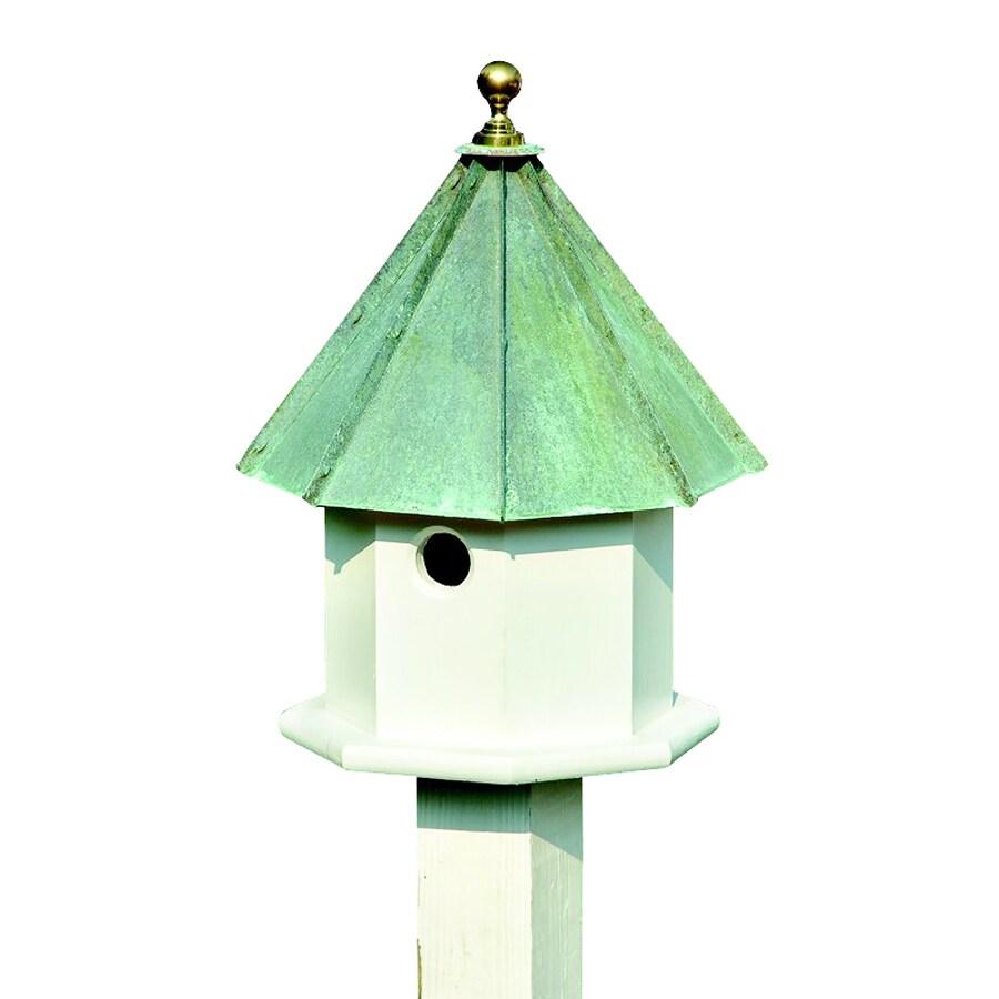 Heartwood 14-in W x 19-in H x 14-in D Verdi Copper Bird House