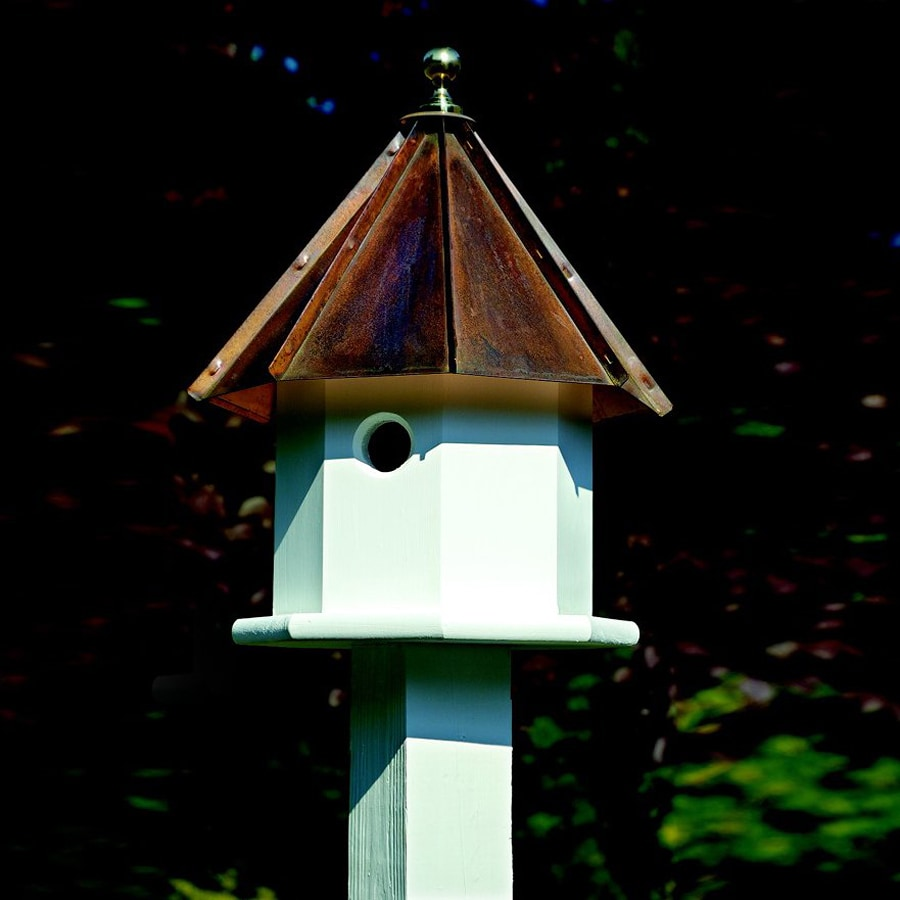 Heartwood 14-in W x 19-in H x 14-in D Brown Copper Bird House