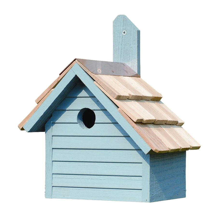 Heartwood 10-in W x 12-in H x 6-in D Blue Pickle Bird House