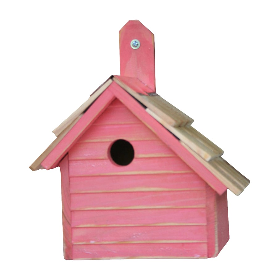 Heartwood 10-in W x 12-in H x 6-in D Mango Bird House