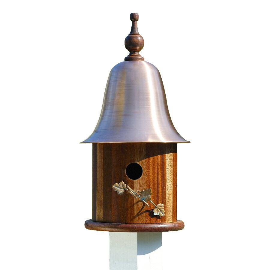Heartwood 10-in W x 20-in H x 10-in D Oiled Mahogany Bird House
