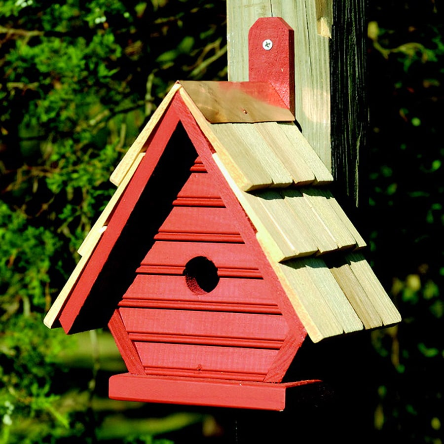 Heartwood 8-in W x 12-in H x 6-in D Redwood Bird House