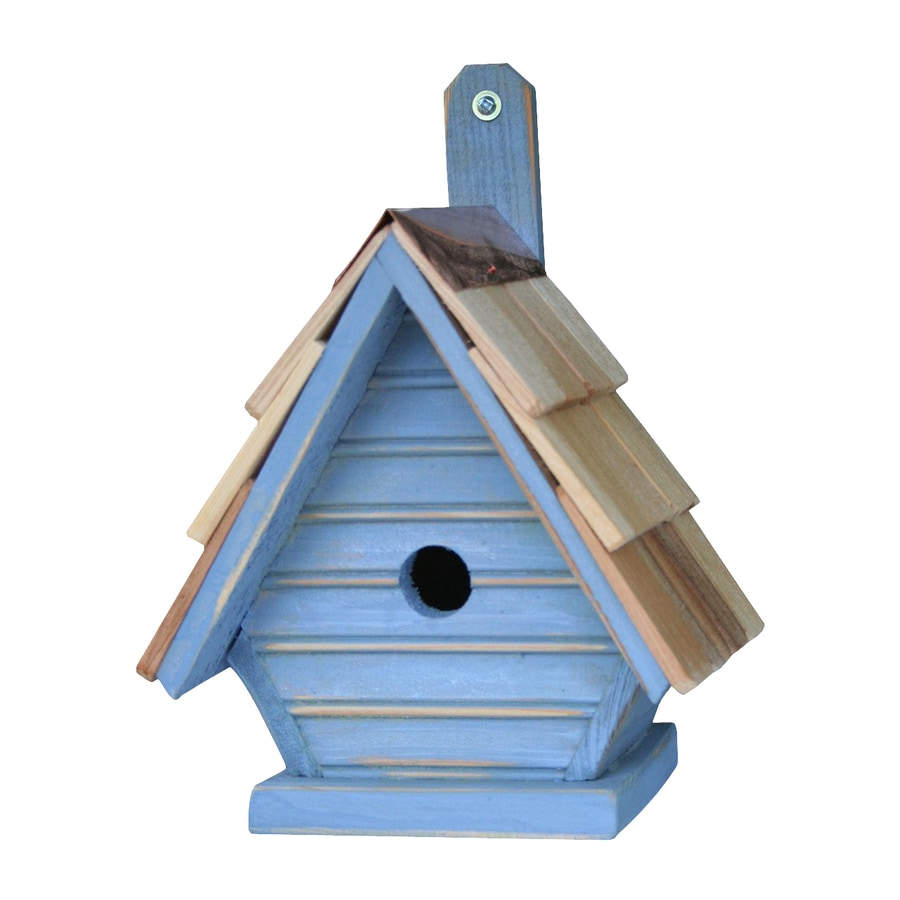 Heartwood 8-in W x 12-in H x 6-in D Blueberry Bird House