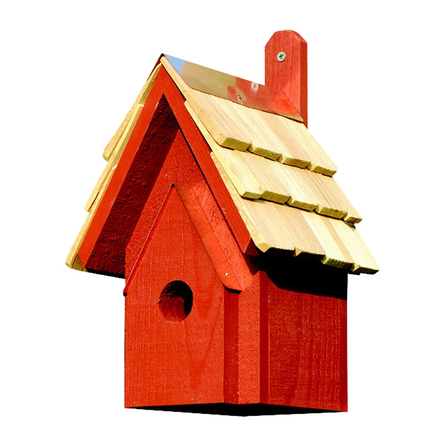 Heartwood 6-in W x 12-in H x 6-in D Redwood Bird House