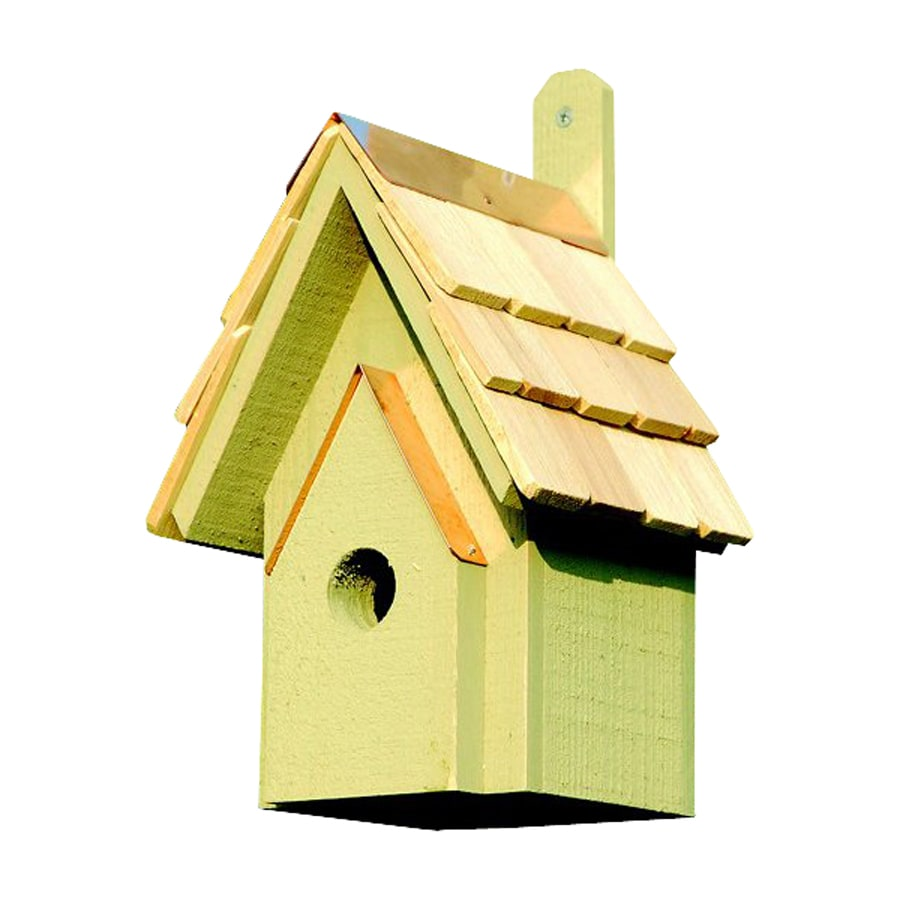 Heartwood 6-in W x 12-in H x 6-in D Celery Bird House