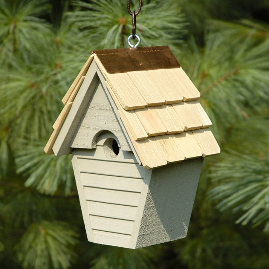 Heartwood 8-in W x 12-in H x 6-in D Smoke Grey Bird House