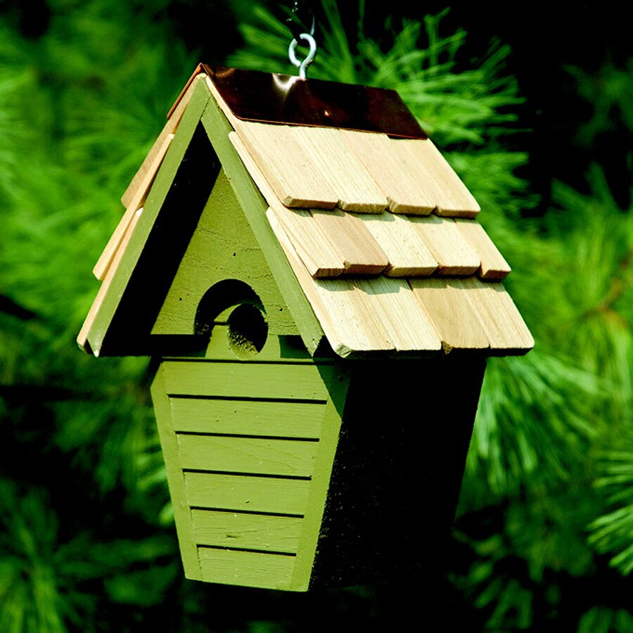 Heartwood 8-in W x 12-in H x 6-in D Pinion Green Bird House