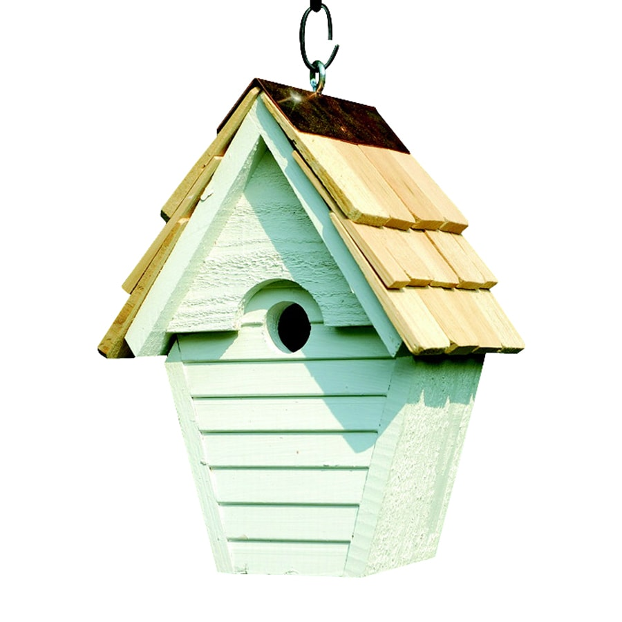 Heartwood 8-in W x 12-in H x 6-in D Whitewashed Bird House