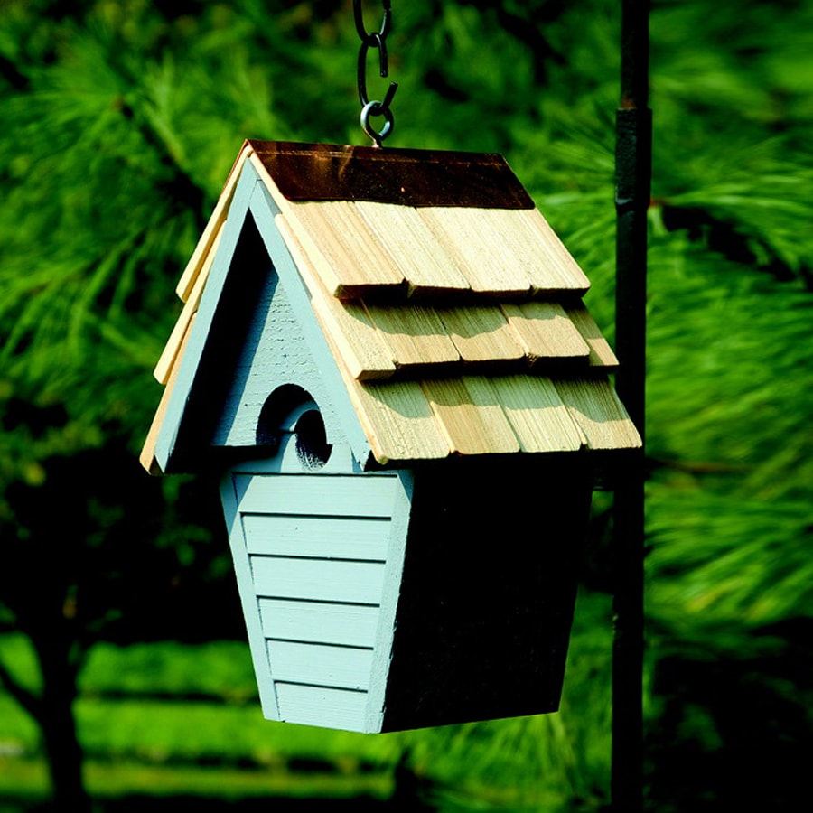 Heartwood 8-in W x 12-in H x 6-in D Blue Pickle Bird House