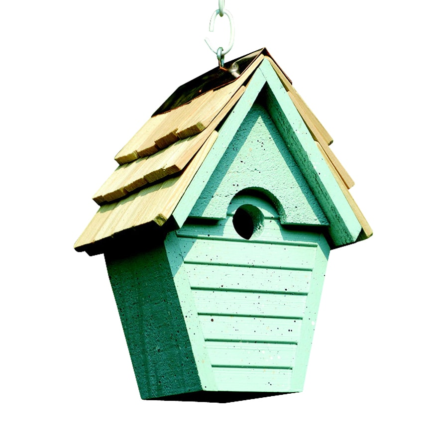 Heartwood 8-in W x 12-in H x 6-in D Blue Eggshell Bird House