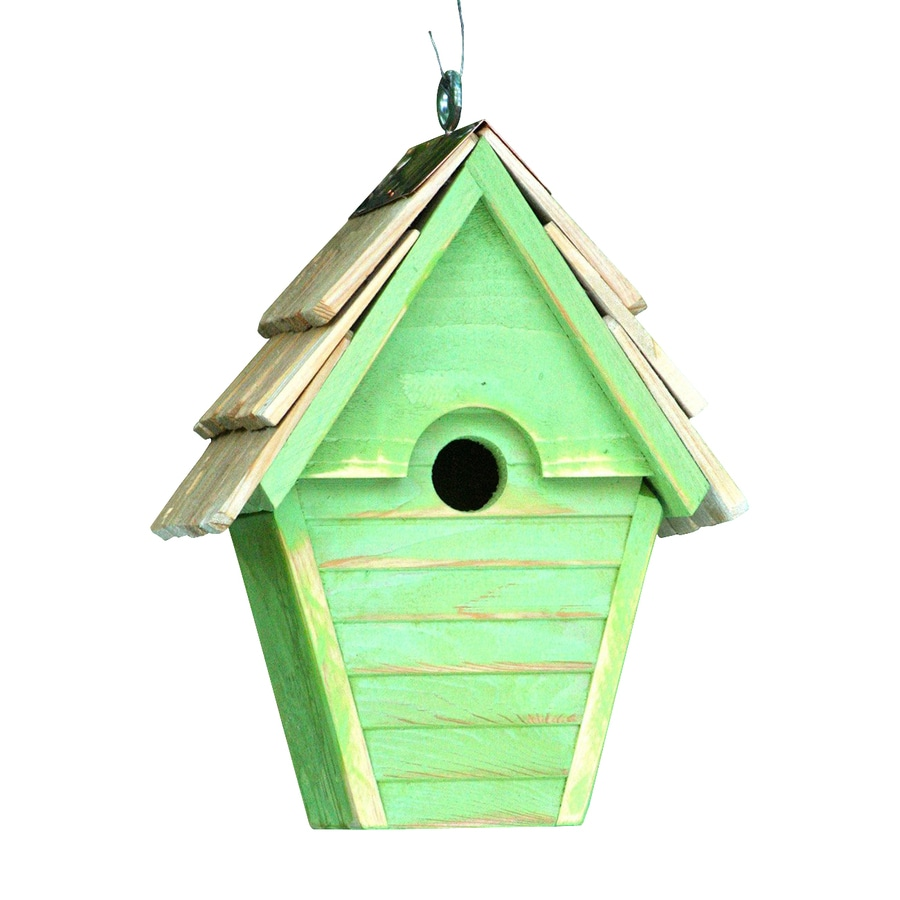 Heartwood 8-in W x 12-in H x 6-in D Green Bird House
