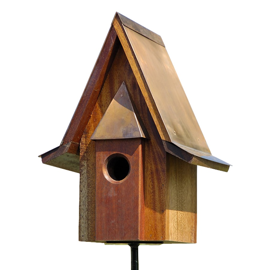 Heartwood 11-in W x 14-in H x 11-in D Oiled Mahogany Bird House