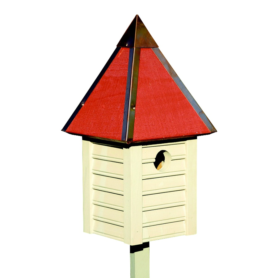 Heartwood 7-in W x 15-in H x 7-in D Smoke Grey Bird House