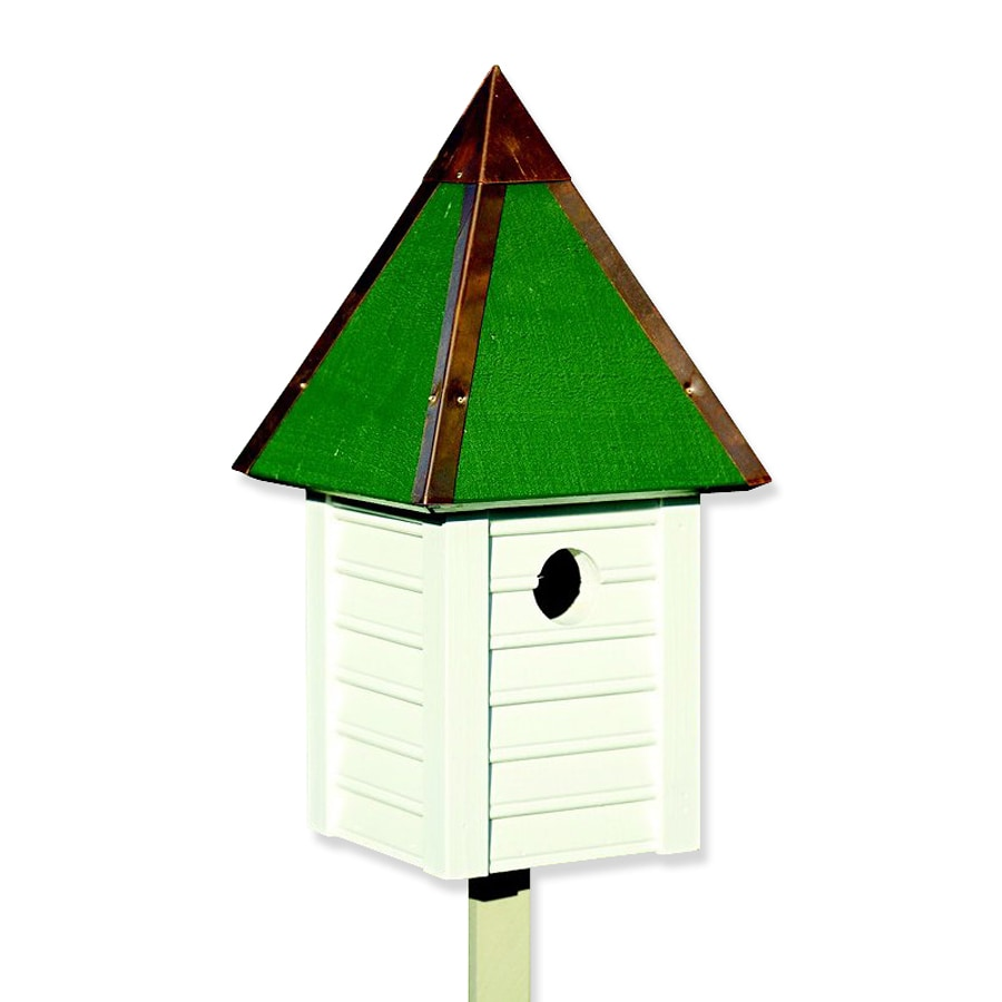 Heartwood 7-in W x 15-in H x 7-in D White Bird House