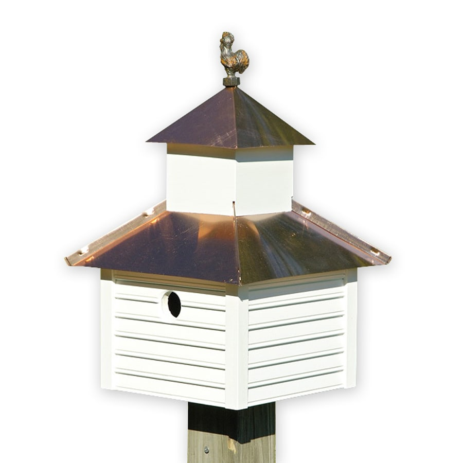 Heartwood 12-in W x 20-in H x 12-in D White Bird House