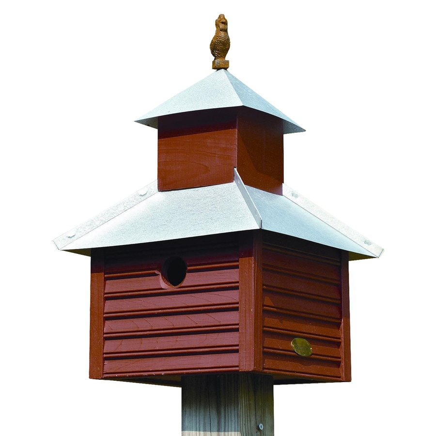 Heartwood 12-in W x 20-in H x 12-in D Redwood Bird House
