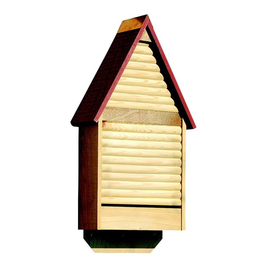 Heartwood 12-in W x 22-in H x 4-in D Red Wood Bat House
