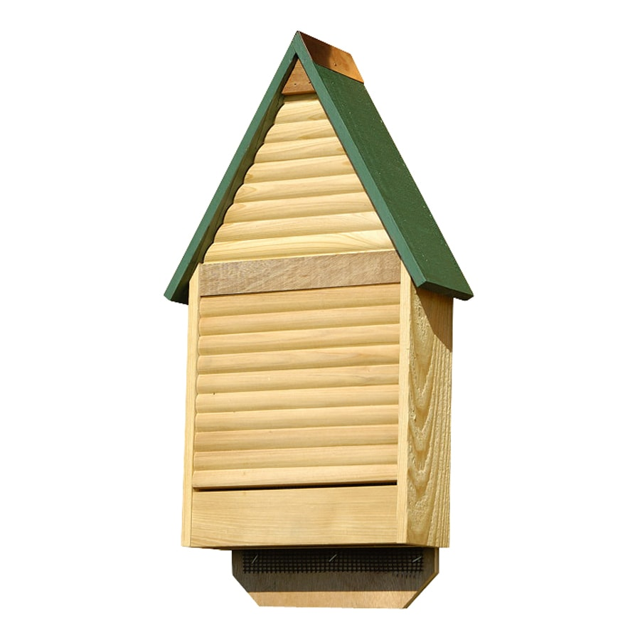 Heartwood 12-in W x 22-in H x 4-in D Green Wood Bat House