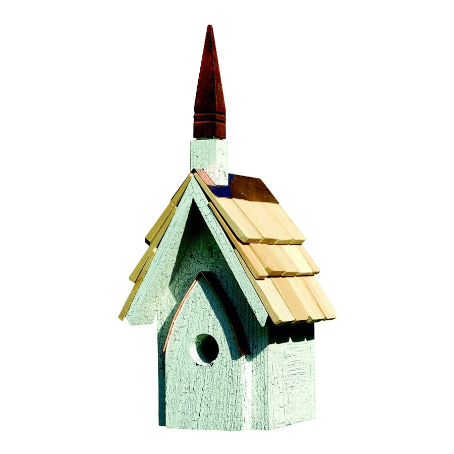 Heartwood 7-in W x 16-in H x 6-in D Antique White Bird House
