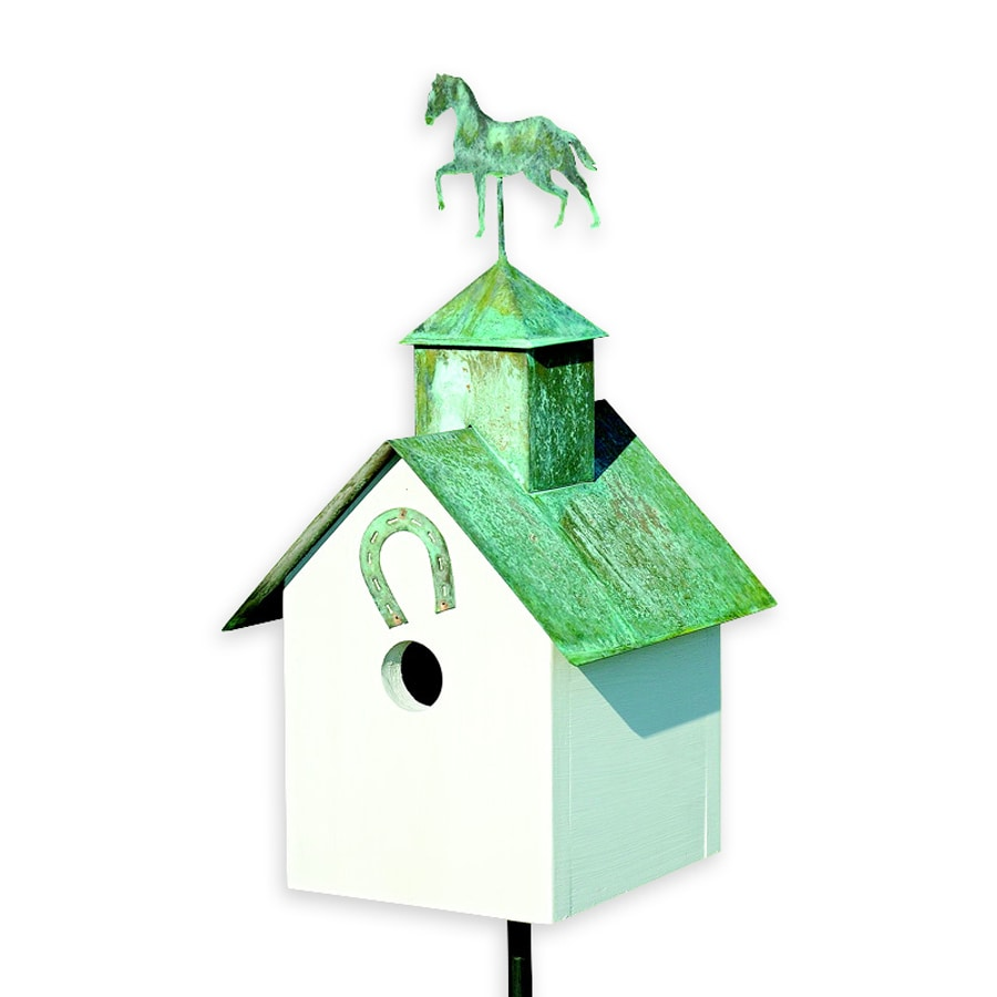 Heartwood 9-in W x 12-in H x 8-in D White Bird House