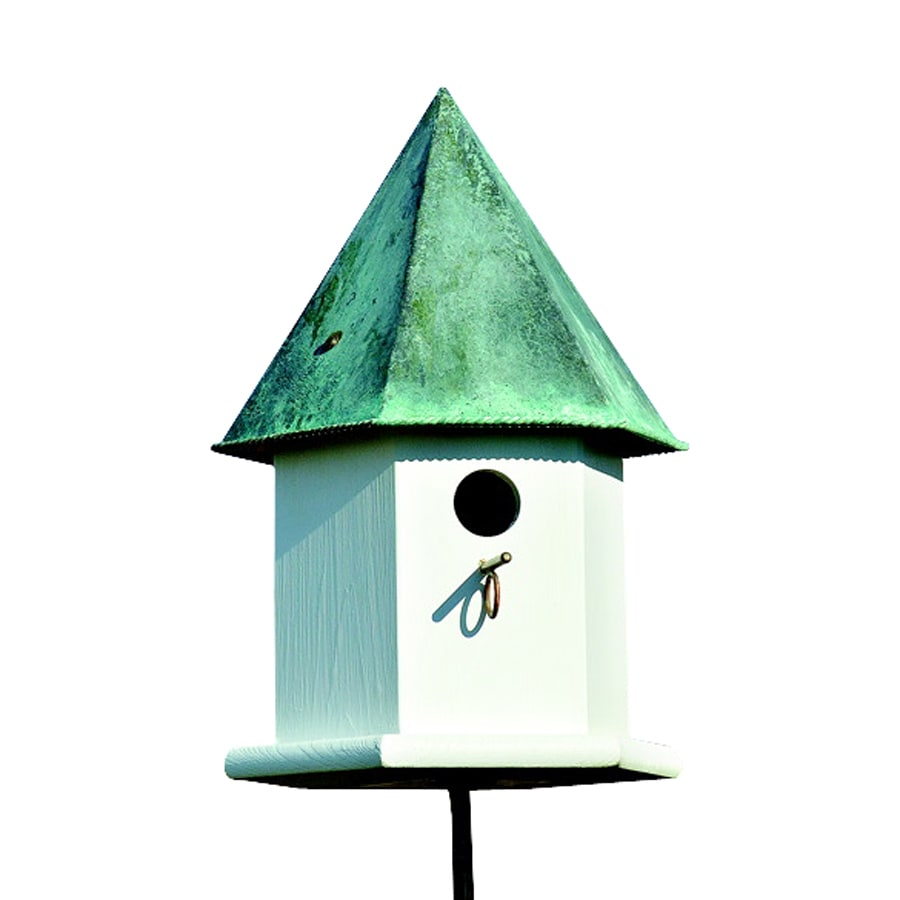 Heartwood 12-in W x 18-in H x 12-in D Verdi Copper Bird House