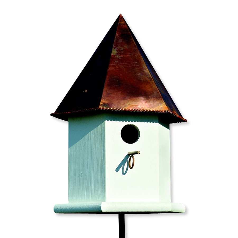 Heartwood 12-in W x 18-in H x 12-in D Brown Copper Bird House