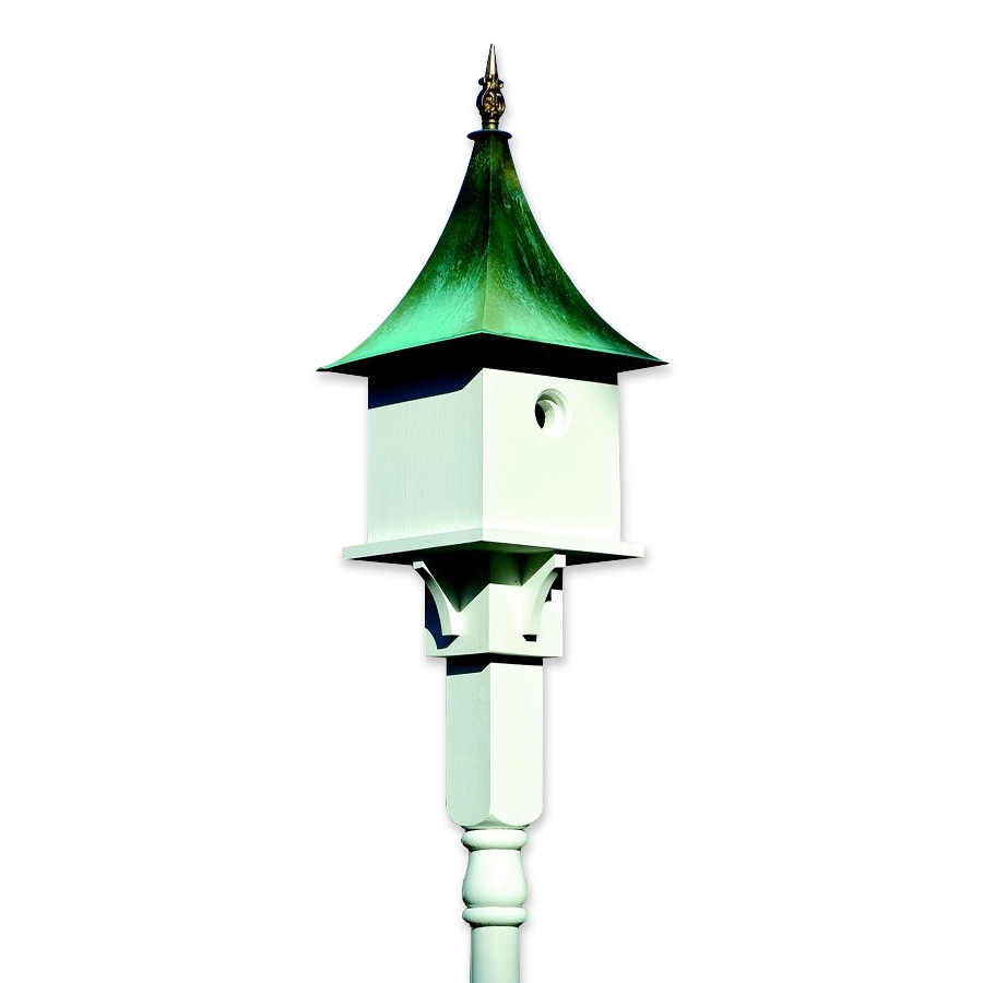 Heartwood 11-in W x 27-in H x 11-in D White Bird House