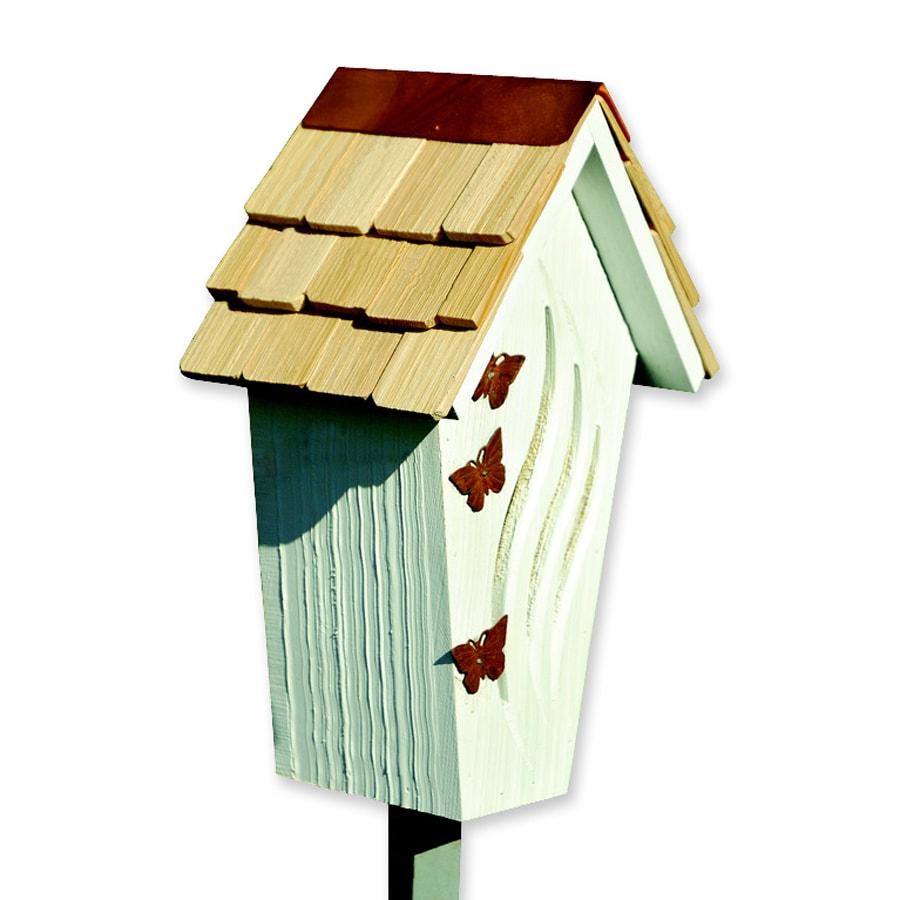 Heartwood Butterfly Bijou Post-Mount Wood Butterfly House