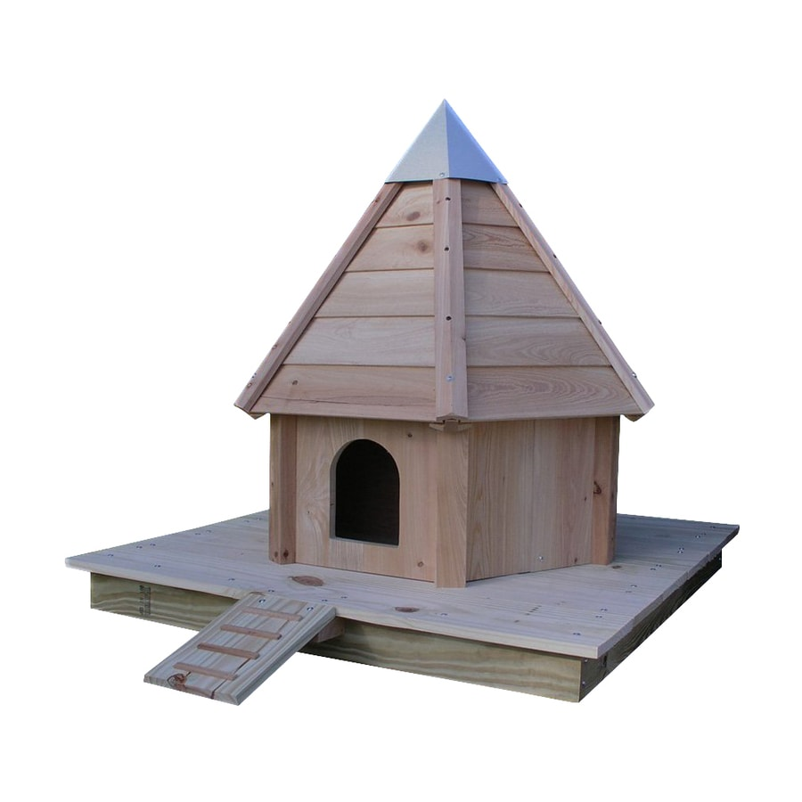 Heartwood 34-in W x 47-in H x 34-in D Natural Bird House